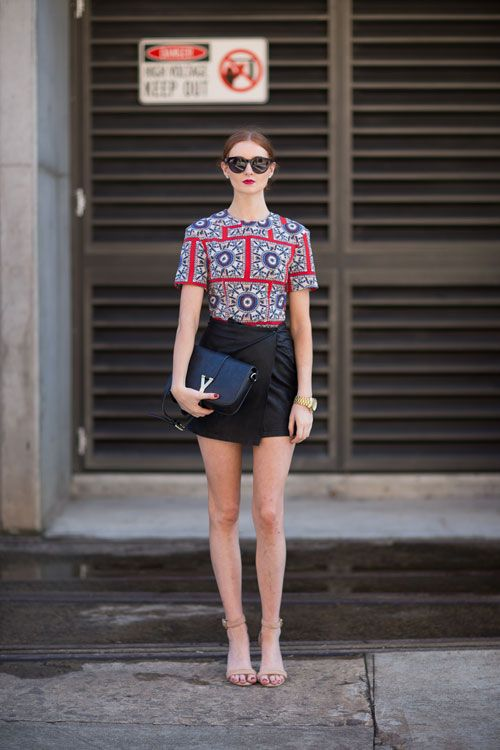 Take some summer outfit inspiration from these chic street style looks. -- love the top!