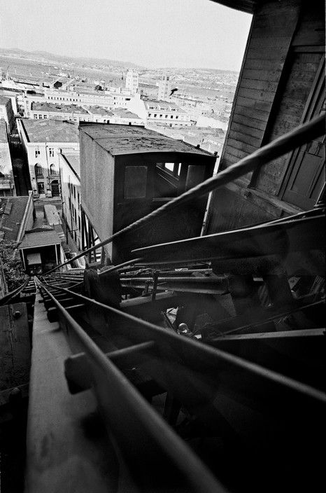 Sergio Larrain CHILE. Valparaiso. From the 'Ascensor Cordillera'. 1963.