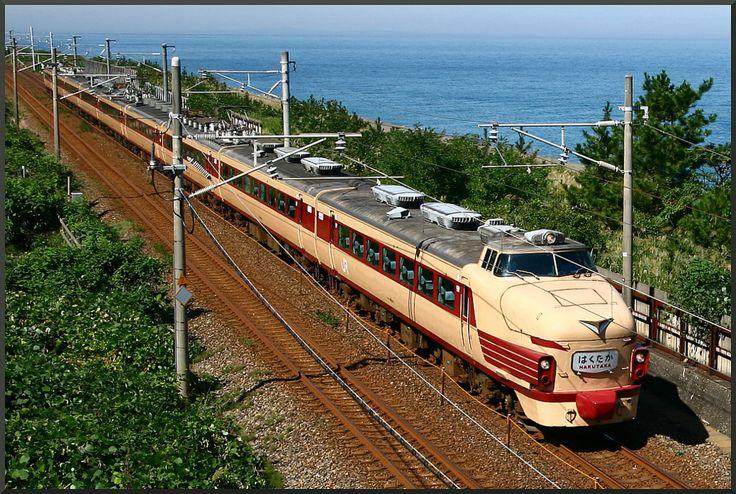 Japanese Railway <489 series / EXP. HAKUTAKA-Extra / Hokuriku Line>