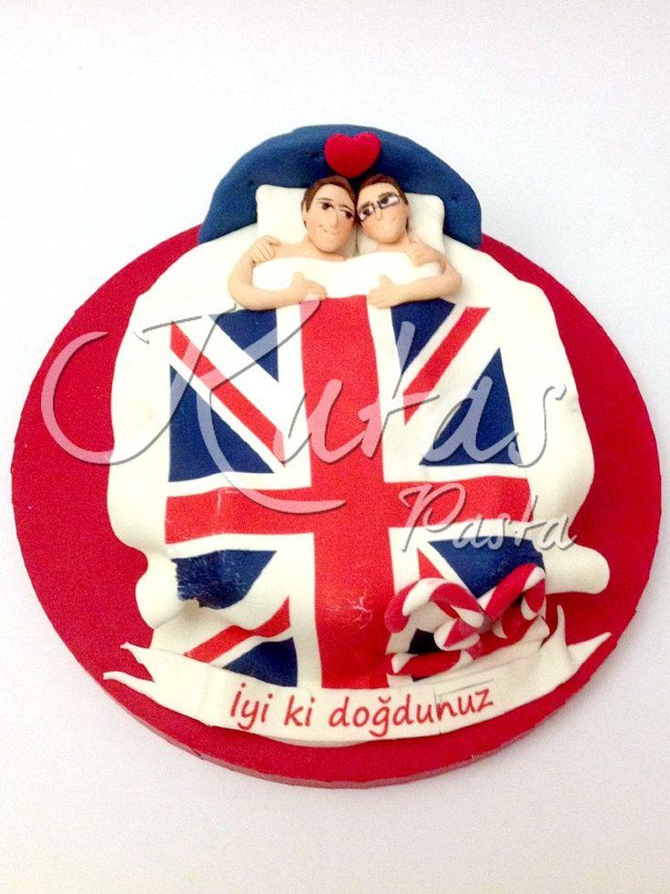 Sevgililer Pastası - Same-sex gay couple cake - Eşcinsel Çift Pastası