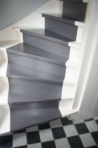 28 beste afbeeldingen over trap opknappen op pinterest scandinavisch huis traptreden en - Witte trap grijs ...