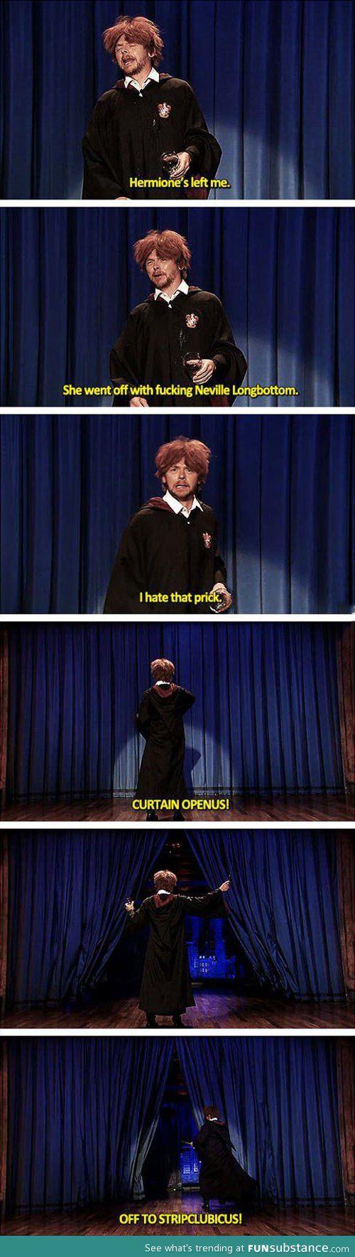 Simon Pegg as Ron Weasley - because Simon Pegg is awesome!