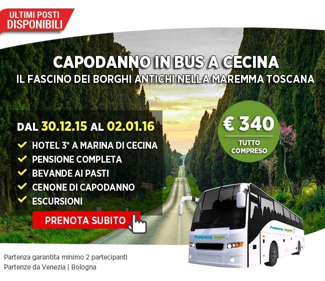Ecco il nostro #tour di #Capodanno in #Toscana!!! #HappyAge ti porta alla scoperta della #Maremma. Parti con noi per #Cecina e visita con l'assistenza delle nostre nostre guide #Guardistallo , #Bolgheri , #Livorno e #Volterra ... sulla scia di poeti ed artisti in un'atmosfera #medievale !