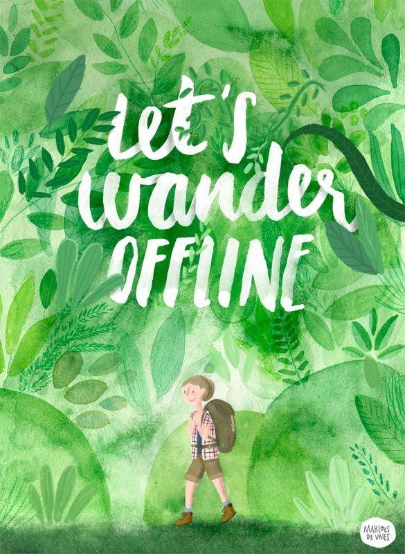Let's wander offline (poster) by Marloes De Vries