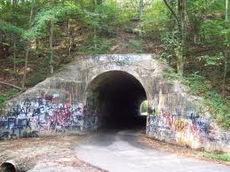 Out in the wide open spaces of Kingsport, Tennessee one would find the haunted tunnel of Sensabaugh where legend has it, a murdered baby still cries, and a ghost train above races on unscheduled nights...