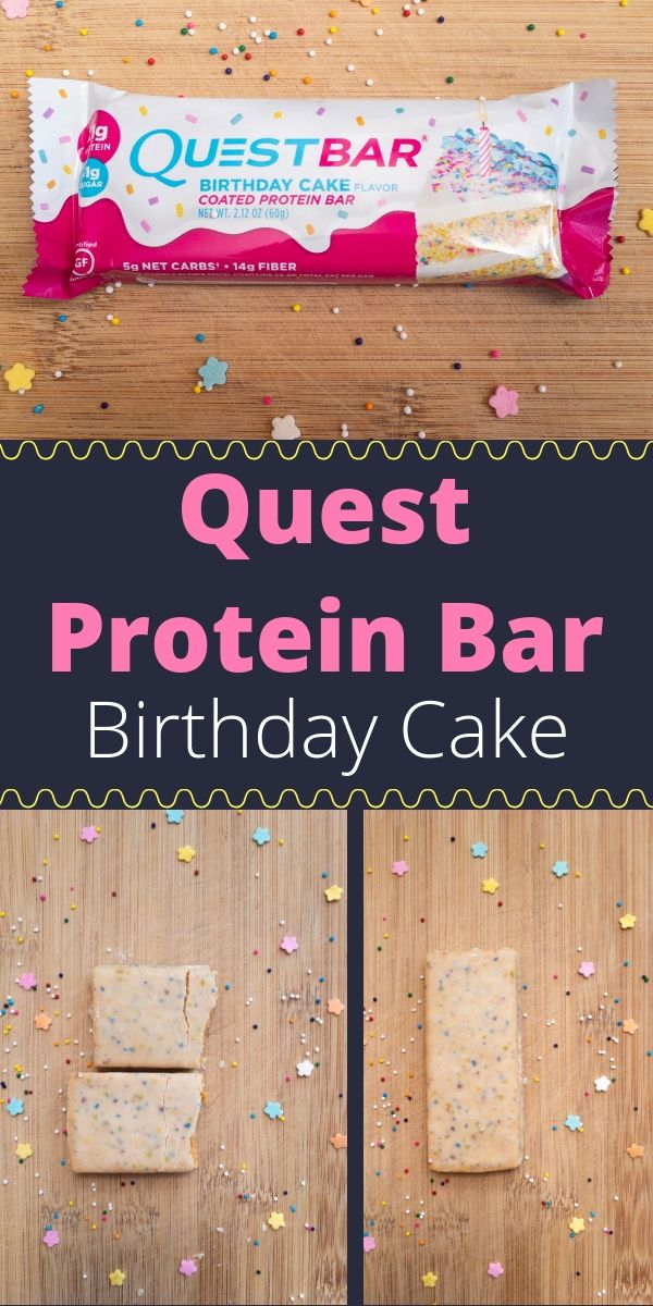 Quest Protein Bar Birthday Cake A Delicious Dessert Thats Low Sugar And High This Is The Perfect On Go