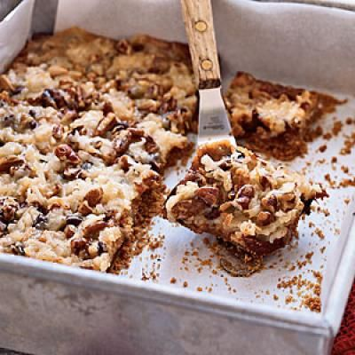Hello Dolly Bars. These bar cookies—also known as seven-layer bars ...