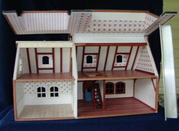 Printable model card houses