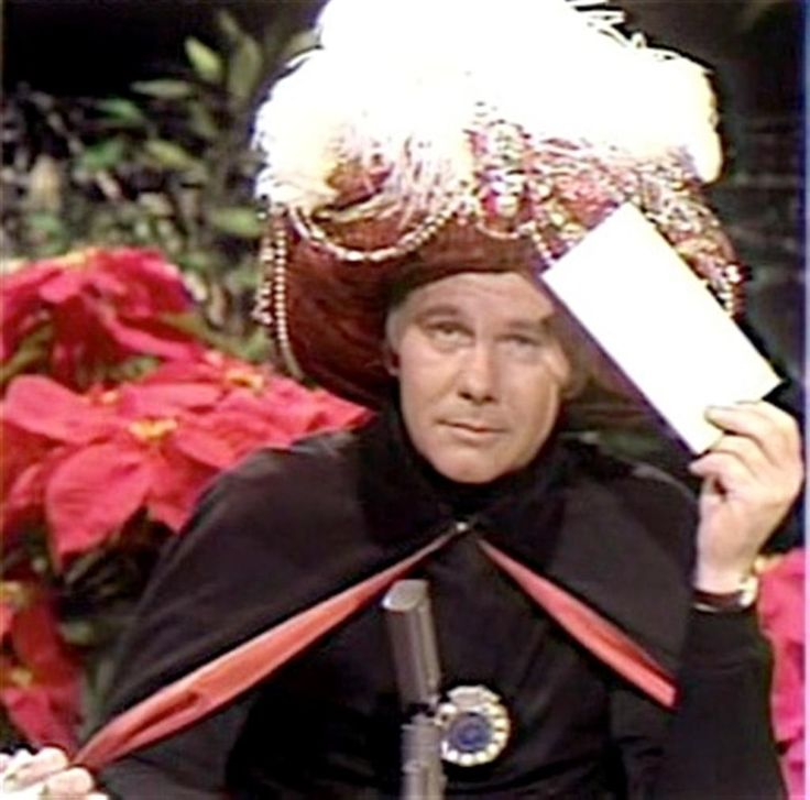 Johnny Carson as Carnac- Loved it