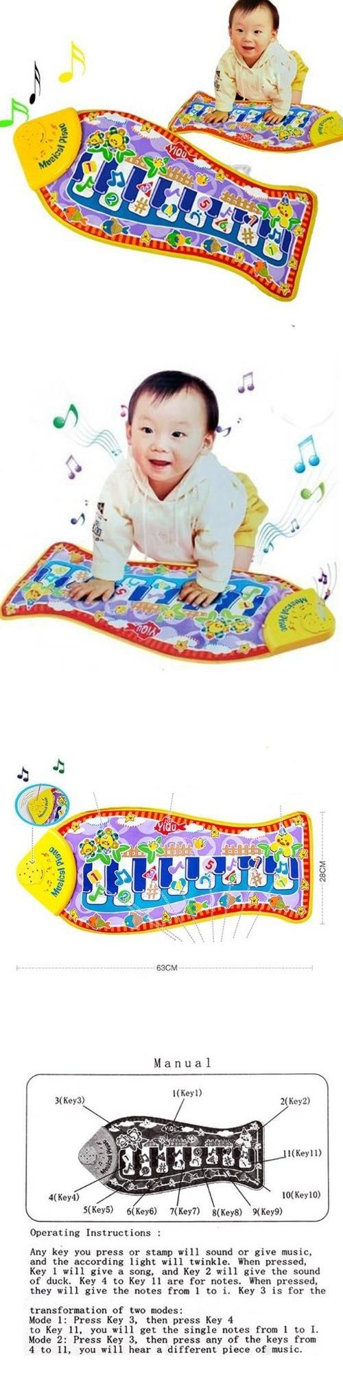 Baby Child Fun Piano Music Cute Fish Animal Mat Touch Kick Play Toys Colour: Colorful. Main material: plastic+cloth. Asian Size: 640x290x23mm. Package Includes: 1pcs.  #Baby_Toys #Art_and_Craft_Supply