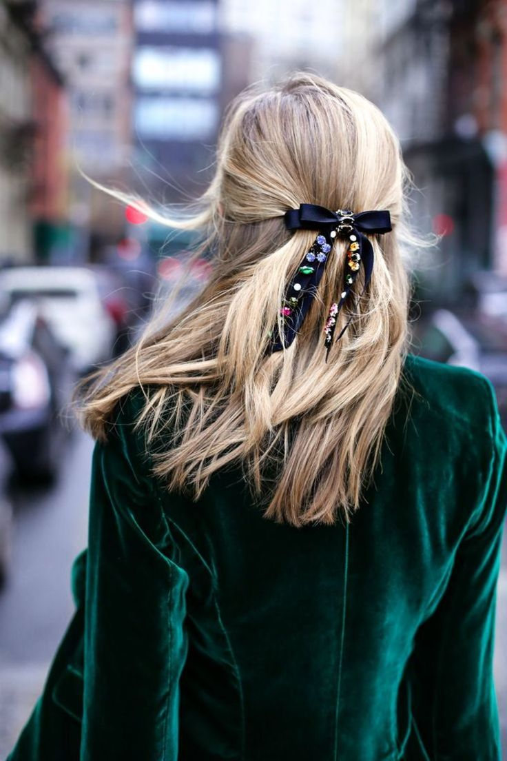 Yes, You Can Pull Off a Velvet Hair Bow