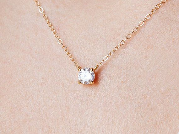 YL Women's Heart Necklace Sterling Silver Love Pendant 14K Rose Gold Jewelry for Girls