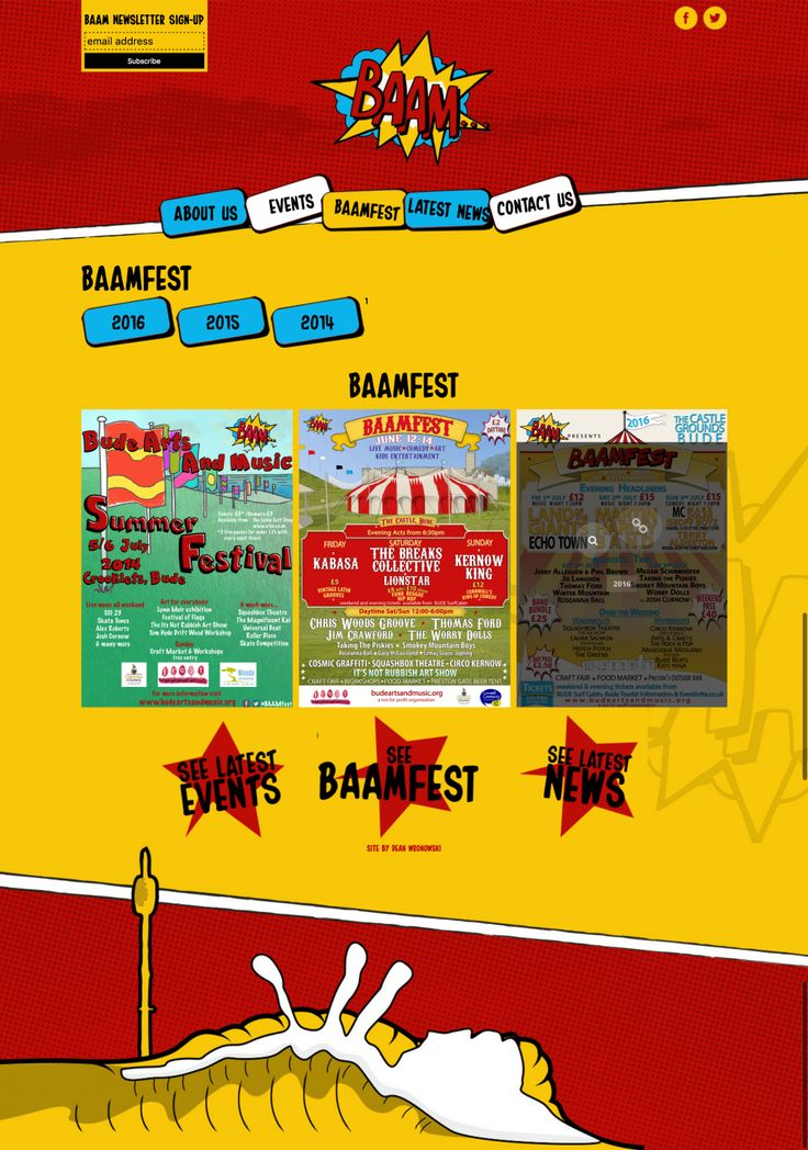 BAAMFest Illustration and Website Design in Bude, Cornwall