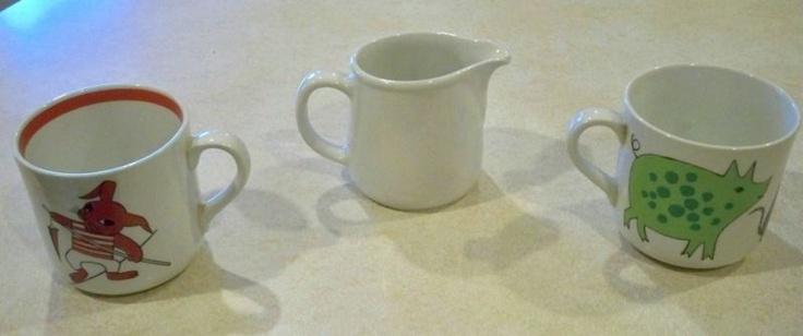 Arabia Finland child's cups.