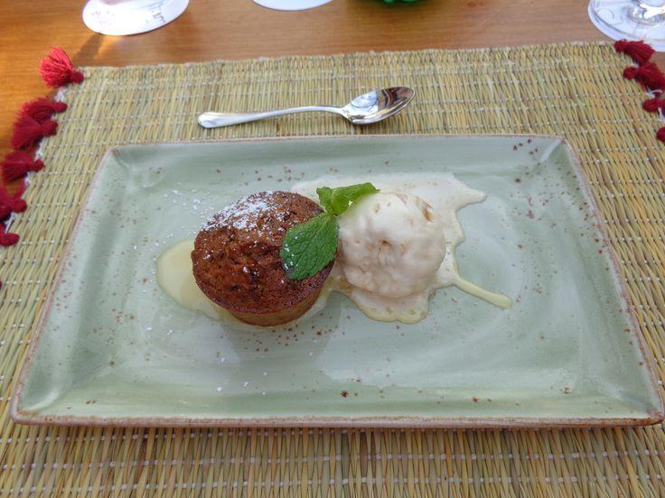 Choco cake with icecream @ Restaurant Carpe Diem Lounge Club [CDLC]