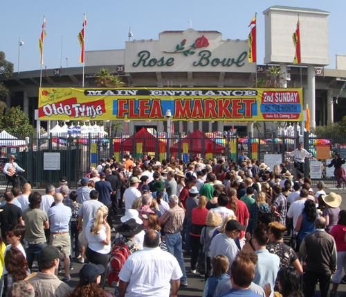 The World Famous Rose Bowl Flea Market, Pasadena, California  My boss is taking some time off and heading to California with his family. They are going to this Flea Market as they have heard so much about it.