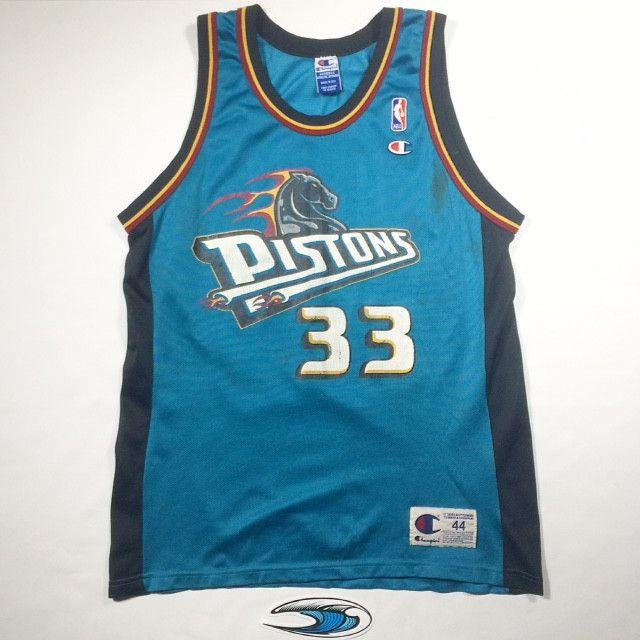 b034aaa75 ... 33 Blue Vintage Basketball Jersey 44 Champion DetroitPistons Grant Hill  Detroit Pistons Champion Jersey ...