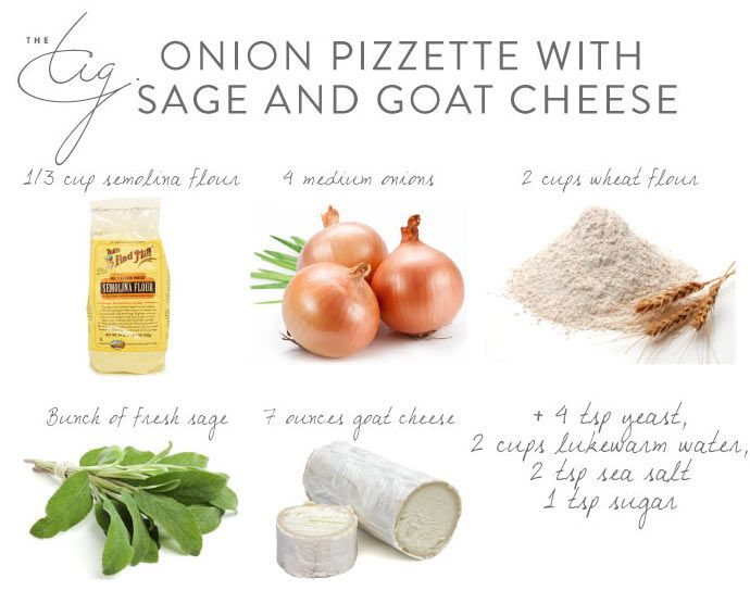 Get the entire Onion Pizzette with Sage and Goat Cheese recipe only on #TheTig