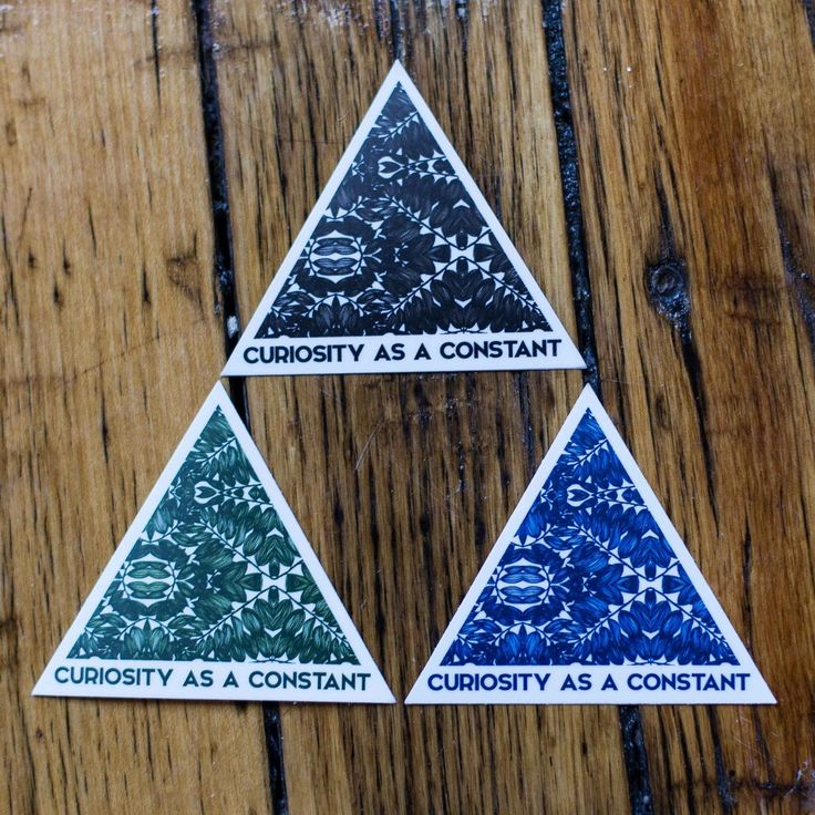 """""""Curiosity as a Constant"""" Sticker Pack of 3"""