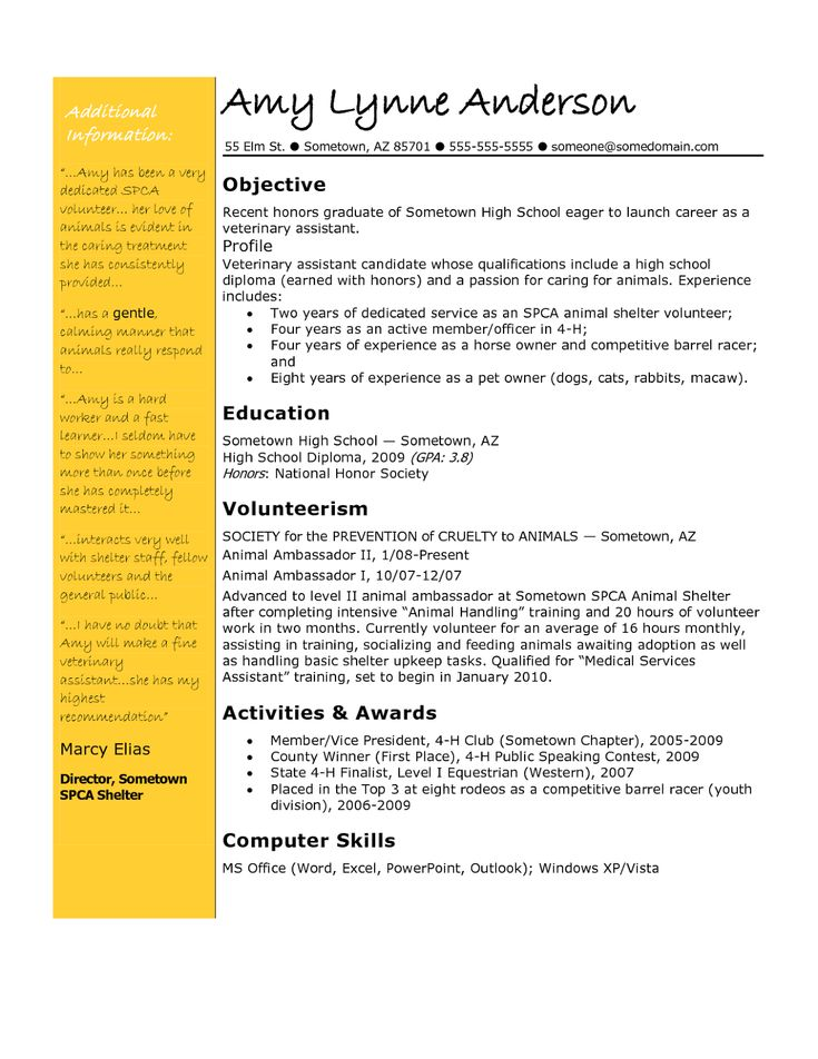 Yli tuhat ideaa Resume Objective Examples Pinterestissä - teaching objective for resume