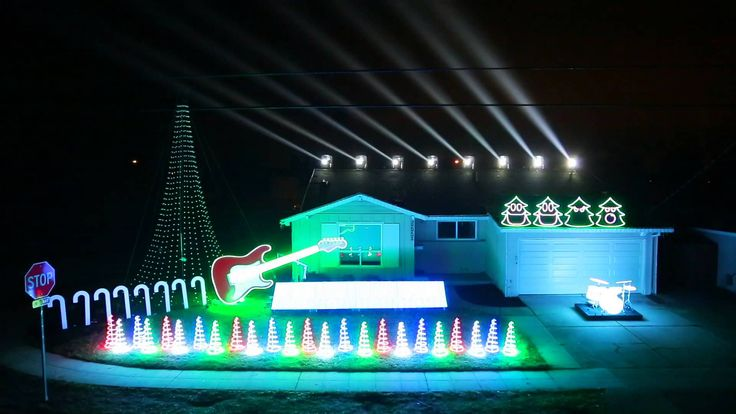 """Funniest Christmas lights display EVER!  It is to the """"Christmas Can Can"""" which I've never heard before but is one of my top favorite songs now!"""