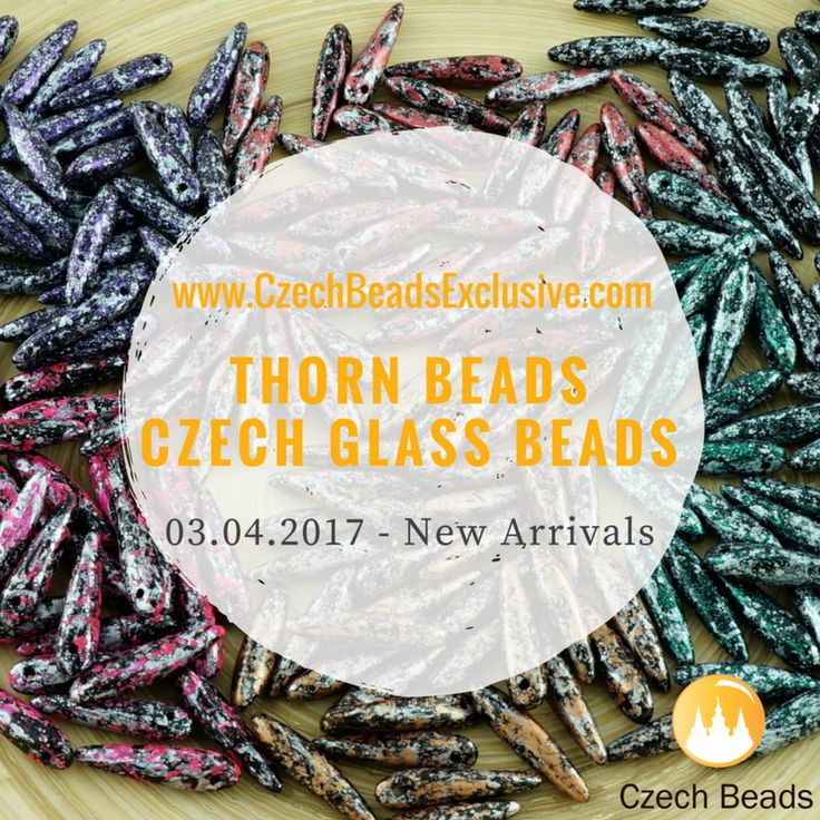 Czech Glass Thorn Beads are clear thorn-shaped beads in slim, elongated form with a color or color combination that creates more detailed and interesting look when the colors are viewed through the clear side of the bead. It adds depth and gives each bead a different look depending on which [...]