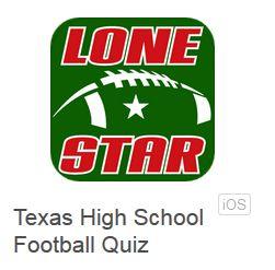 Texas high school football trivia quiz app