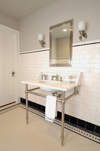 Wilmette Vintage Bath   Traditional   Bathroom   Chicago   JK Design LOVE  The Tile Work! Part 22
