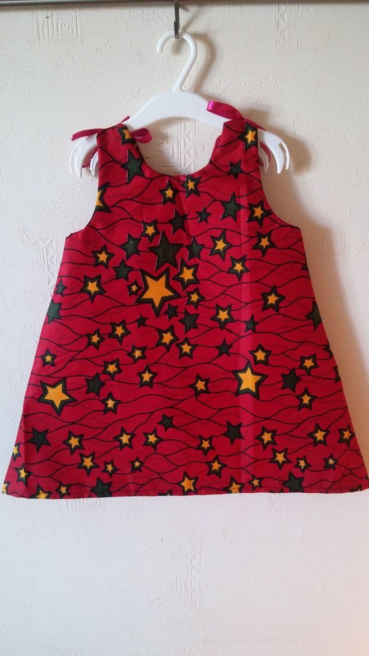 Petite Robe Véritable Wax / taille 3 ans : Mode filles par tidi-wax