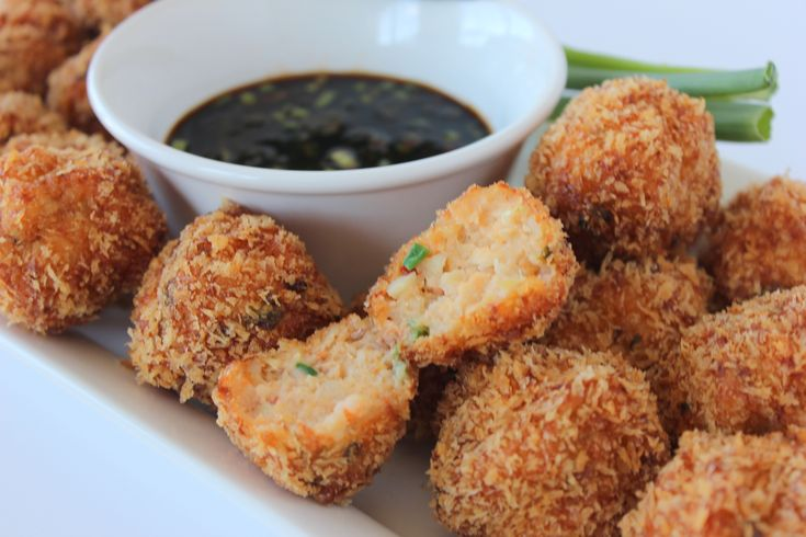 Asian Shrimp Balls Ready To Serve