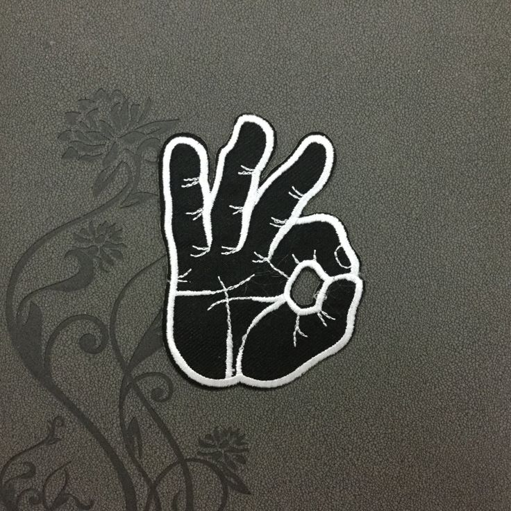 OK gesture Peace Sign Emoji Embroidered Patch Iron On Patches Sew on Patches Iron On Applique