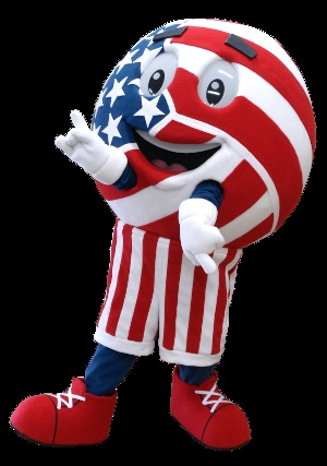 Here's the cheerful Volleyball #mascot we made for #USA Volleyball!