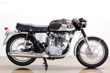 Extremely rare and believed to be the only 1965 Honda CB450 Black Bomber in the US.
