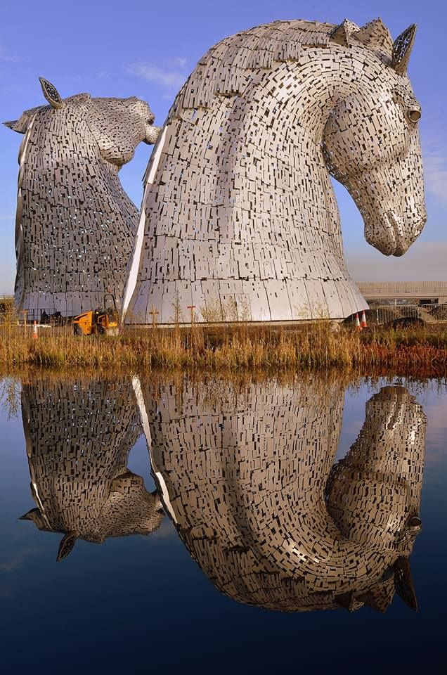 The Kelpies at Falkirk are only a short drive away from Dunfermline.  The Kelpies Falkirk © John Arnott