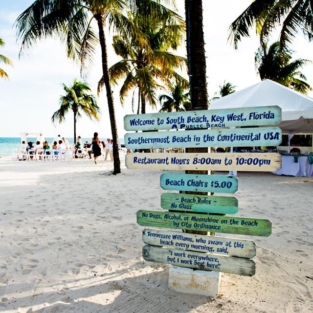 Southernmost Beach wedding | Key West