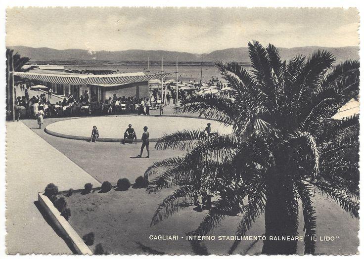 CAGLIARI - Interno Stabilimento Balneare il Lido (anni '40-'50)