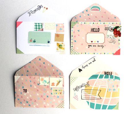 Cute Envelopes by hello sandwich: Creative Wraps, Mailart, Envelopes, Mail Ideas, Design Graphiqu, Wrapping Ideas, Desktop Wallpapers, Cute Stationery, Wraps Ideas