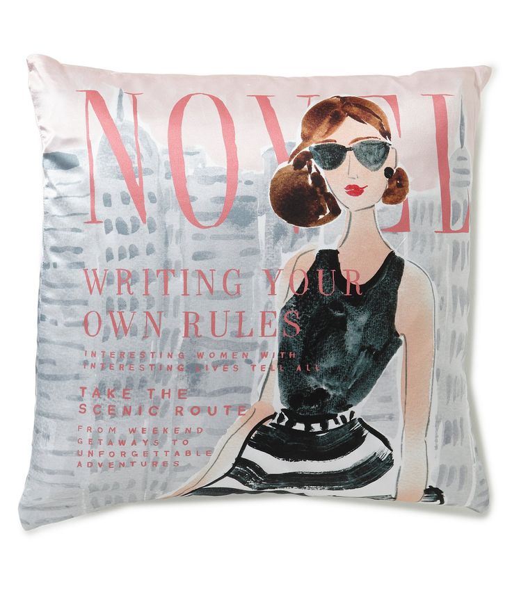 kate spade new york Writing Your Own Rules Magazine Cover Silk and Cotton Square Feather Pillow #Dillards