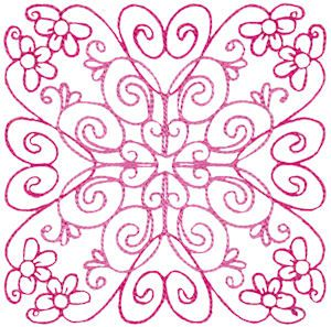 Bunnycup Embroidery | Free Machine Embroidery Designs | Country Flowers Quilt Blocks