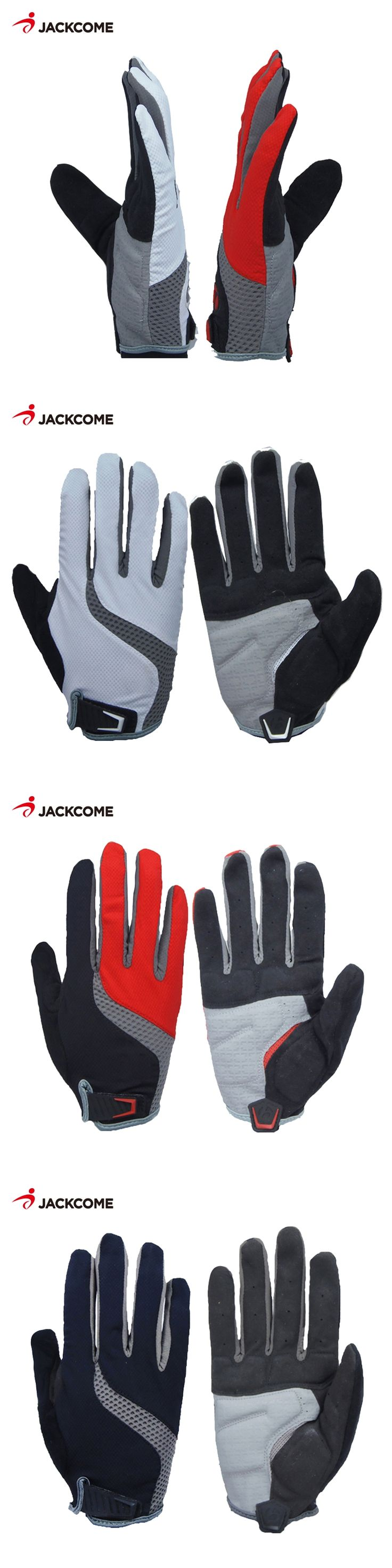 JACKCOME Cycling Bike Gloves Sponge Pad Long Finger Motorcycle Gloves For Bicycle Mountain Bike Glove Shockproof MTB CG2820