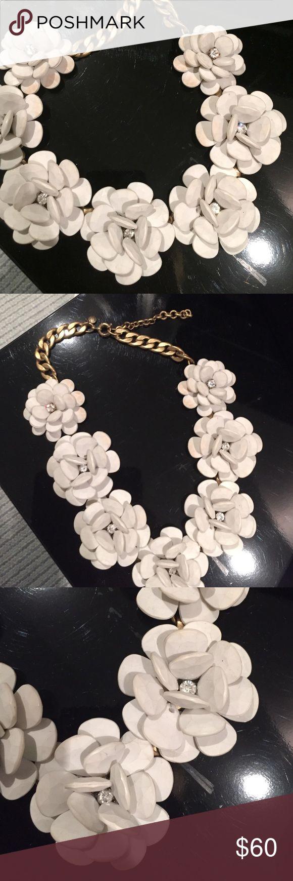 J crew white flower necklace White flower j crew necklace Jewelry Necklaces