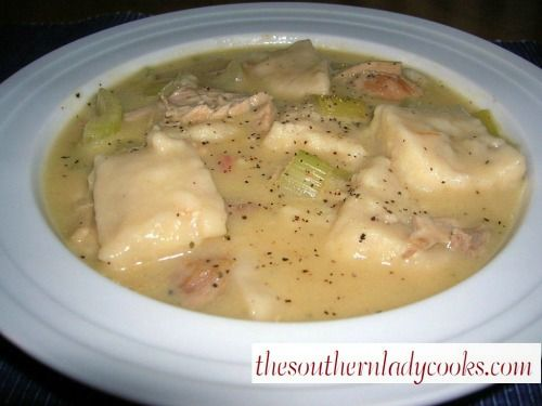 """The Southern Lady Cooks """"EASY Chicken & Dumplings""""  .. This is a quick version for those on a tight schedule ....and still yummy ....."""