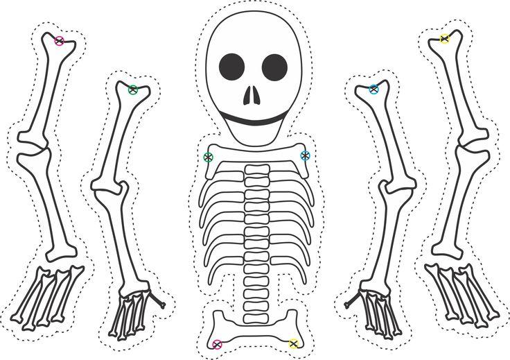 dry bones skeleton puppet template  for ezekiel