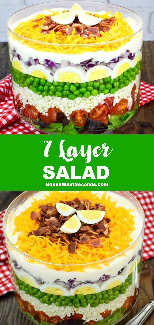 7 Layer Salad Recipe With Video Recipe In 2020 Layered Salad Low Carb Recipes Dessert Layered Salad Recipes