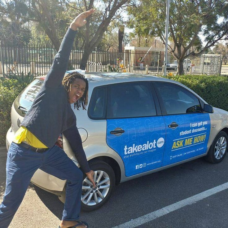 Our #Takealot #StudentDiscount influencers are getting paid to get the conversation started. #EarnExtraCash #BecomeFamous #BrandYourCar