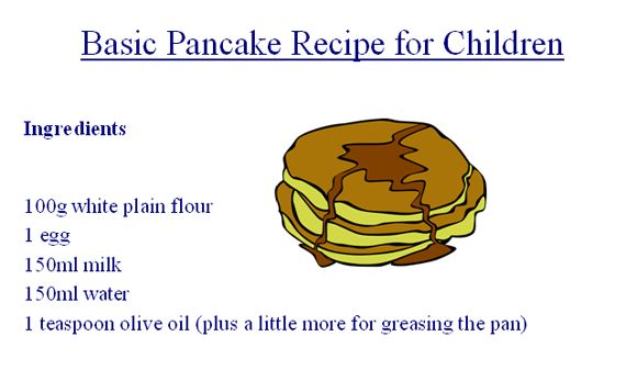 How to make pancake and ingredients choice image how to ccuart Image collections
