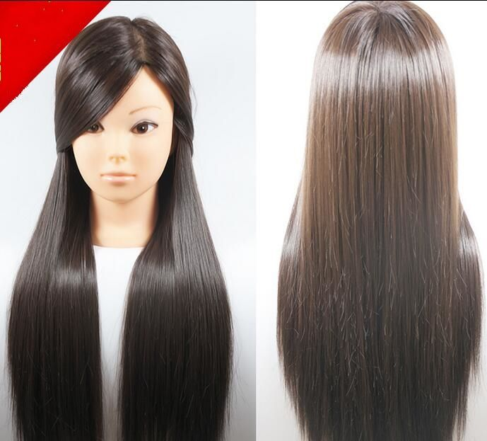 "25""female hair mannequin makeup practice hairdressing head,face maked up,M00618"