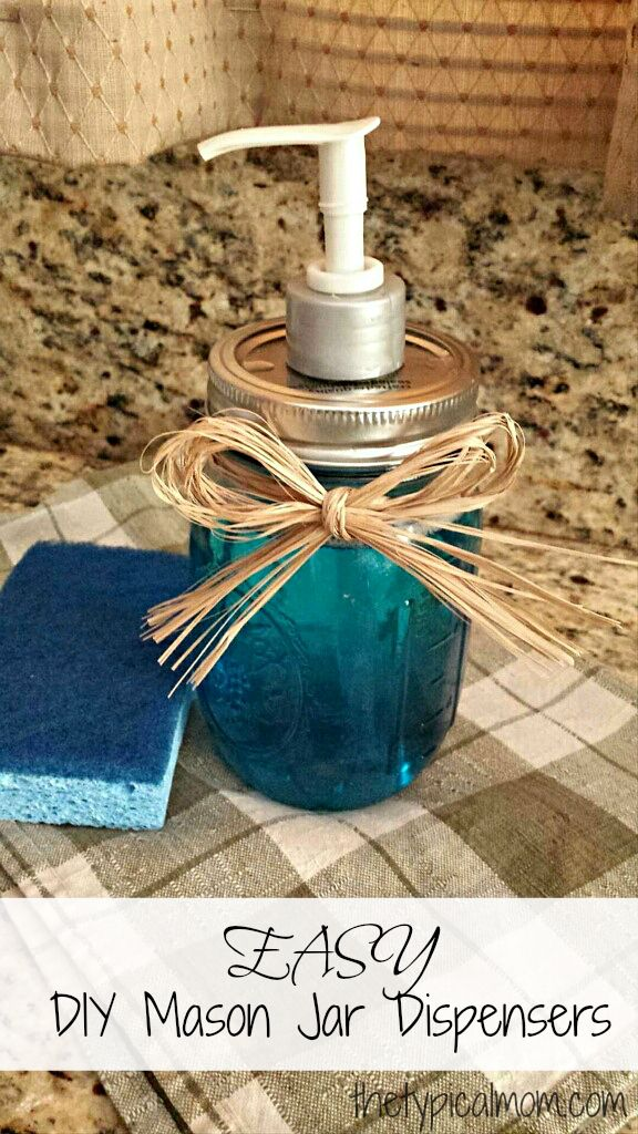 EASY DIY mason jar soap dispensers, or use them for other things. Using NO tools, this is how you create one!!