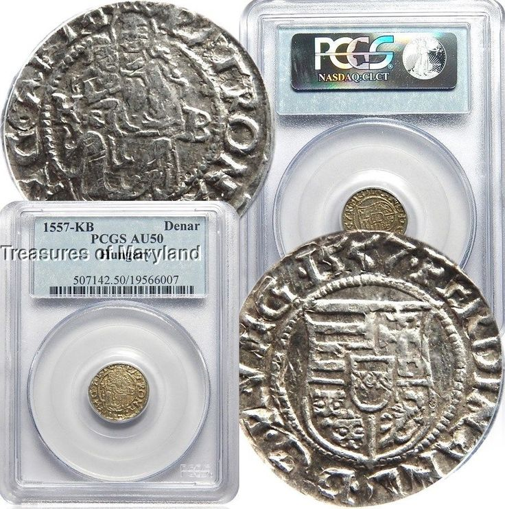 PCGS AU 50 Certified! 1557 Madonna & Child Silver Hungary Denar! sku #6007