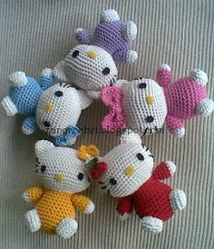 Hello Kitty ~ Zan Crochet, free pattern, amigurumi, stuffed toy, #haken, gratis patroon, Nederlands, knuffel, speelgoed, kraamcadeau, #haakpatroon